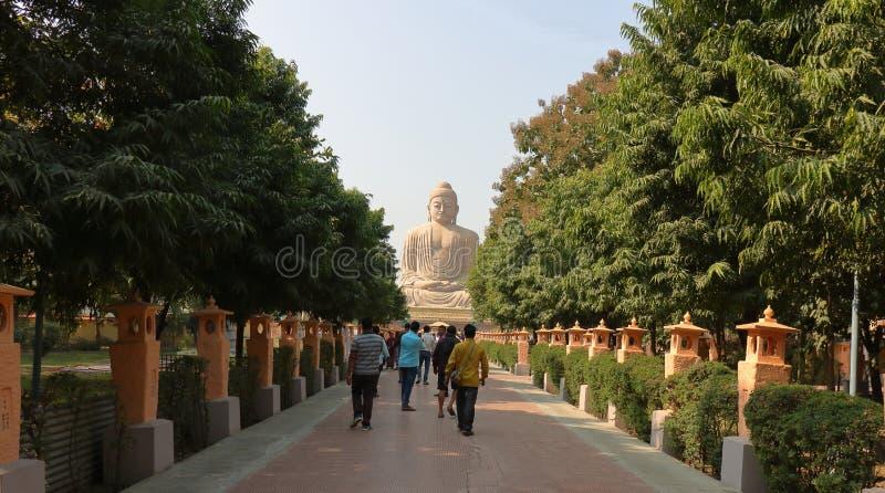 La gran estatua de Buda, gaya del boddh, Bihar, la India imagenes de archivo