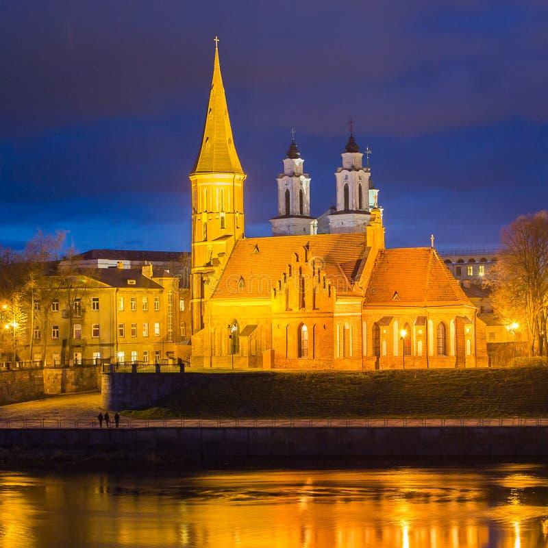 La gran iglesia de Vytautas en Kaunas, Lituania fotos de archivo libres de regalías