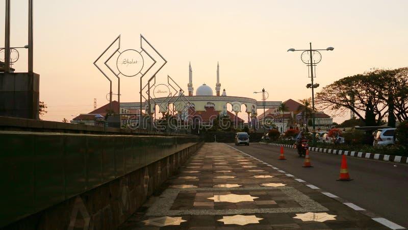 La gran mezquita de Java central fotografía de archivo