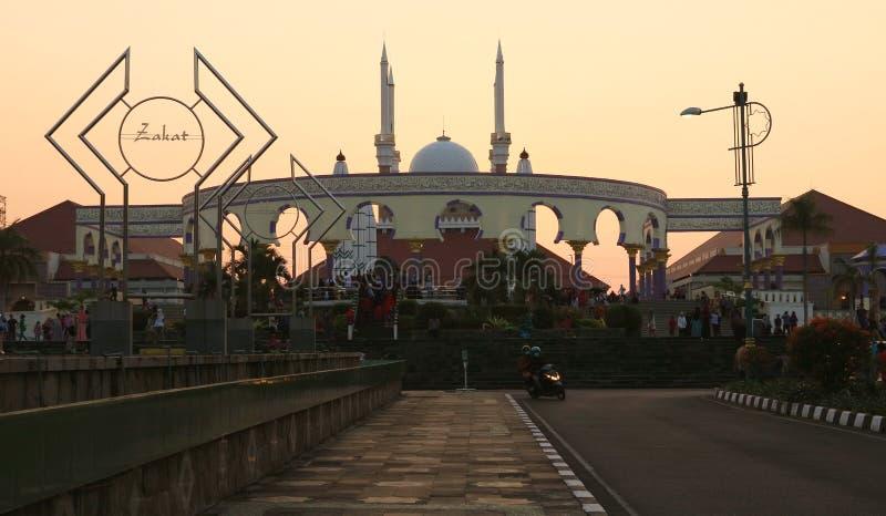 La gran mezquita de Java central fotos de archivo