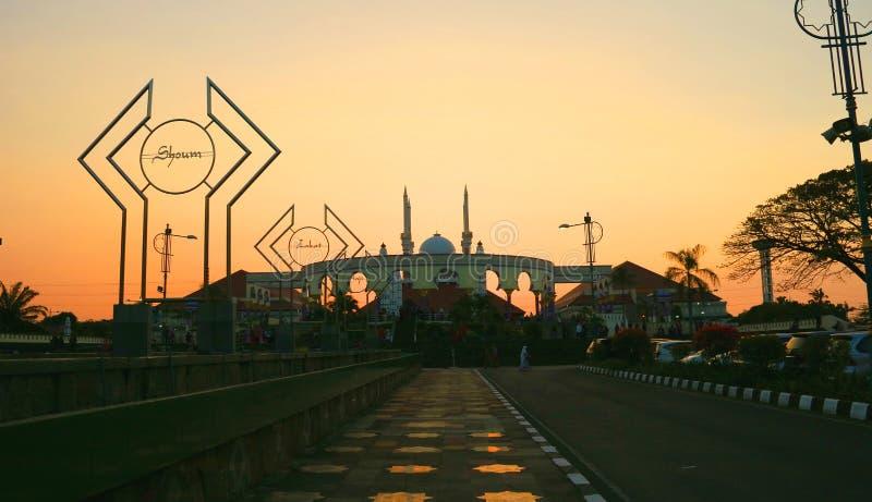 La gran mezquita de Java central fotos de archivo libres de regalías