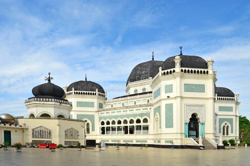 La gran mezquita (Masjid Raya) imagen de archivo
