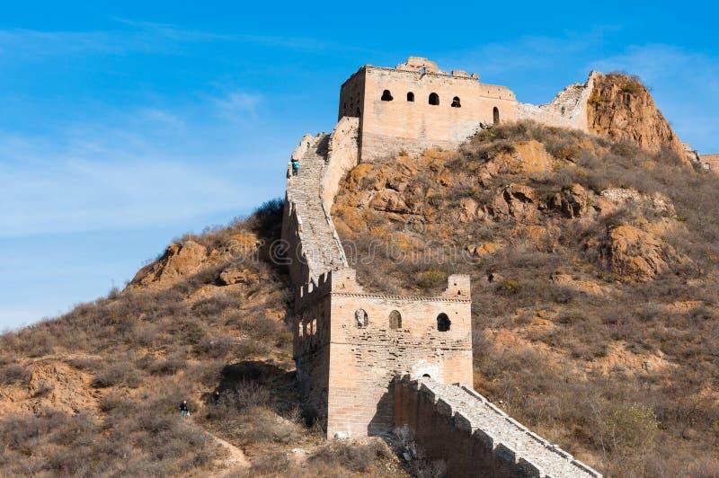 La Gran Muralla de China en Jinshanling fotografía de archivo libre de regalías