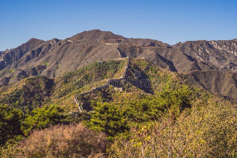 La Gran Muralla de China La Gran Muralla de China es una serie de fortalecimientos hechos de la piedra, ladrillo fotografía de archivo