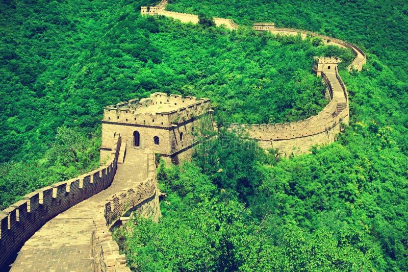 La Gran Muralla de China La Gran Muralla de China es una serie de fuerte foto de archivo libre de regalías