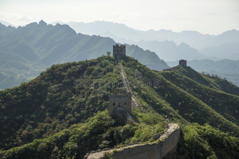 La Gran Muralla de China, montaña hermosa fotos de archivo libres de regalías