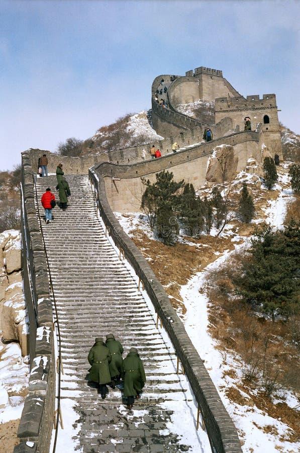 La Gran Muralla de la opinión del wnter de China imagen de archivo libre de regalías