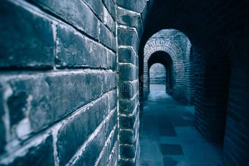 La Gran Muralla del top de la montaña, China foto de archivo libre de regalías
