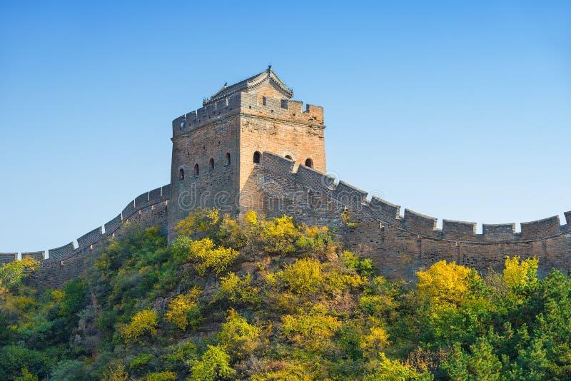 La Gran Muralla hermosa de China foto de archivo libre de regalías