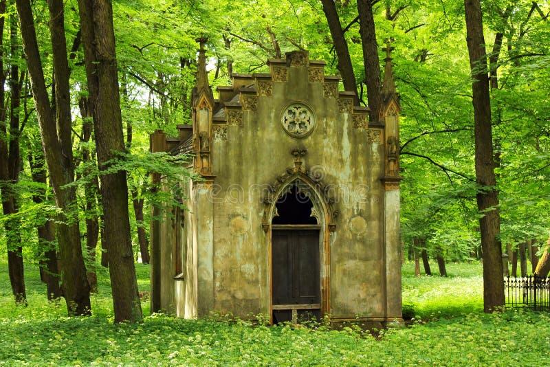 La gran necrópolis del cementerio en Riga, Letonia fotografía de archivo