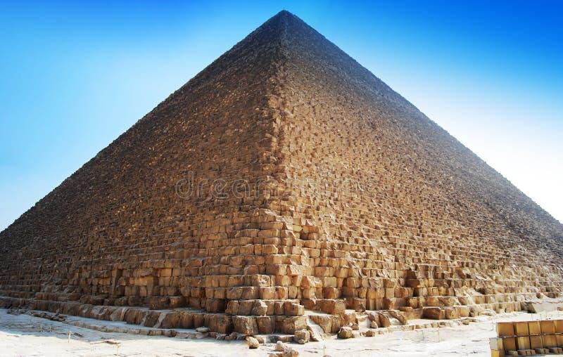La gran pir?mide de Cheops en El Cairo, Egipto imagen de archivo libre de regalías