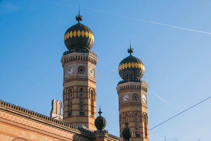 La gran sinagoga de Budapest, también conocida como la sinagoga de la calle Dohány imagen de archivo