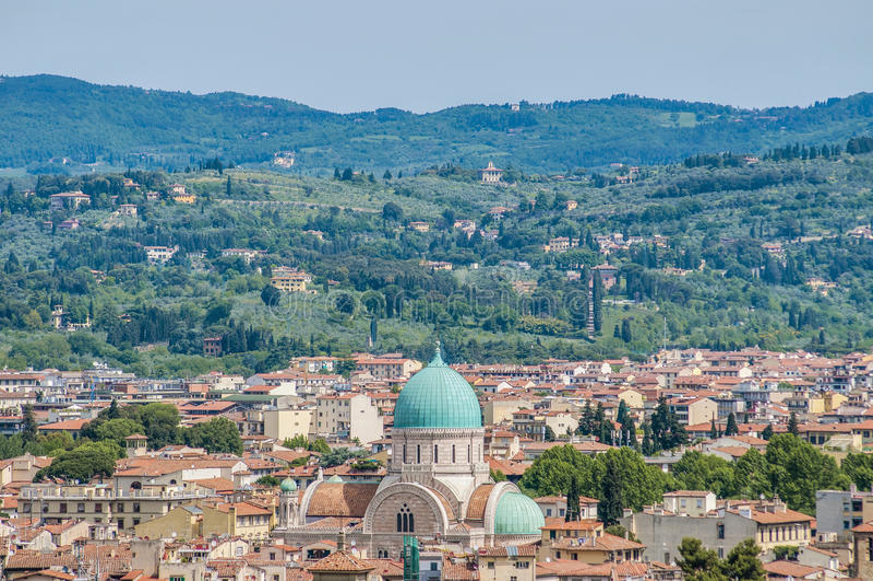 La gran sinagoga de Florencia, Italia fotografía de archivo libre de regalías