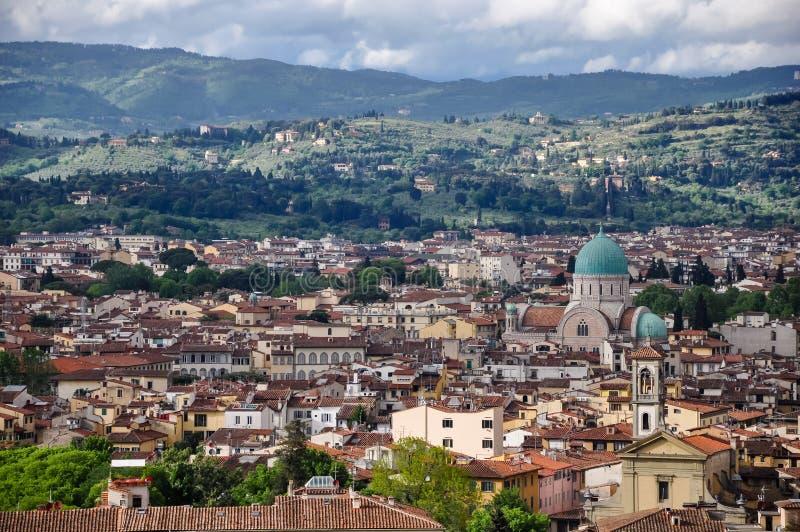 La gran sinagoga de Florencia imagenes de archivo