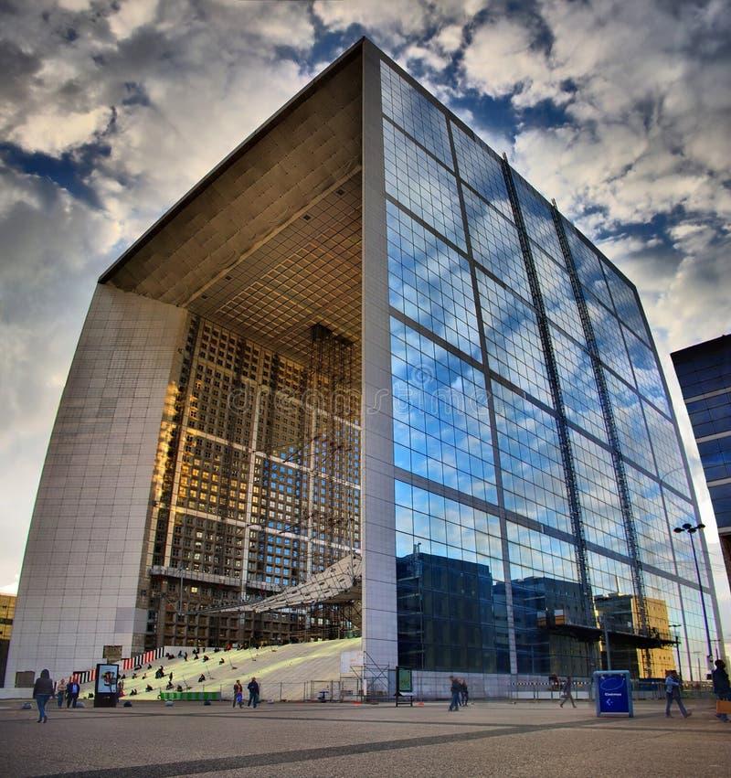 La Grande Arche de la Défense in Paris stockbild