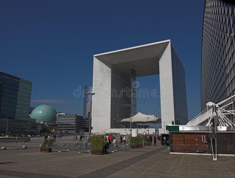 La Grande Arche, defesa do La, Paris, France fotos de stock