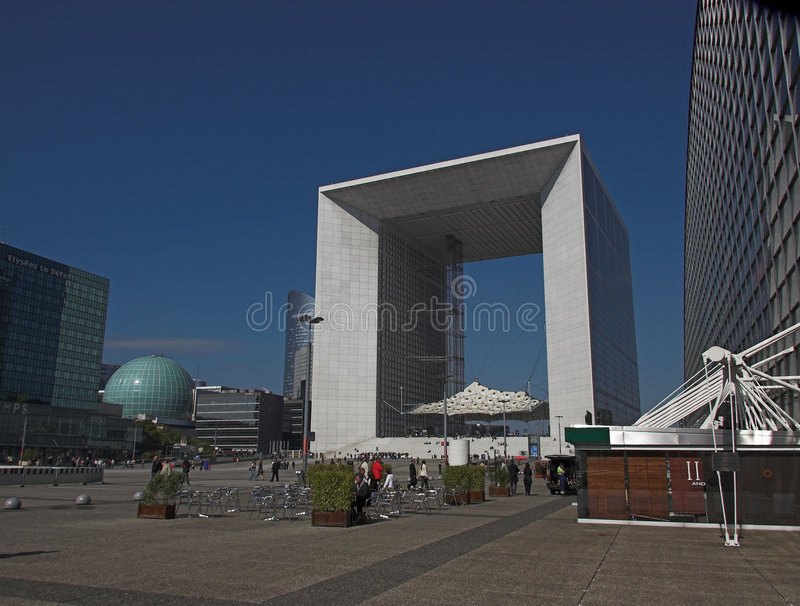 La Grande Arche, la défense de La, Paris, France photos stock