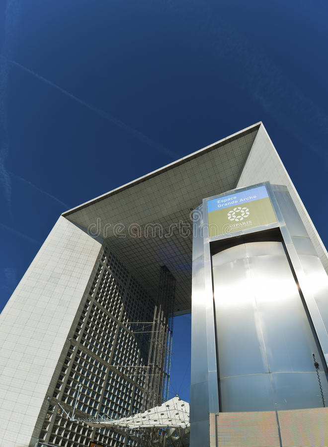 La Grande Arche, La Defense, France royalty free stock images