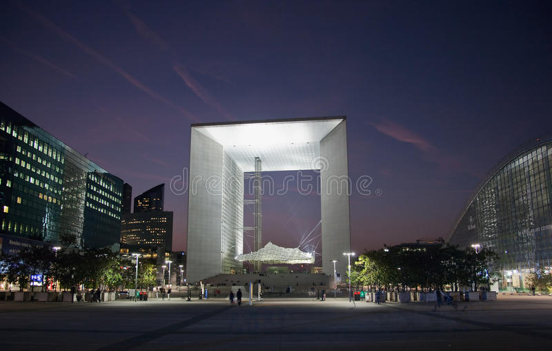 Download La Grande Arche In La Defense In Paris At Sunset Editorial Stock Image - Image: 22200859