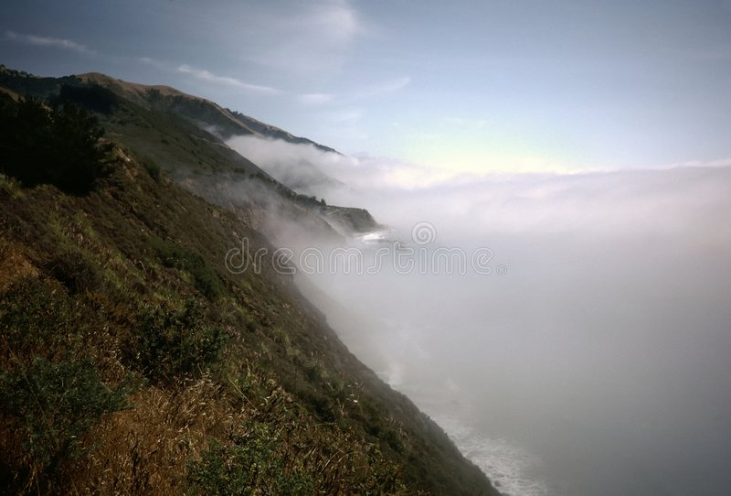 La grande Banca di nebbia di Sur fotografia stock
