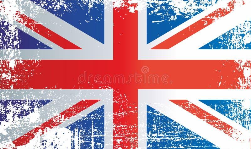 La Grande-Bretagne et l'Irlande du Nord, taches sales froissées Peut être employé pour la conception, autocollants, souvenirs illustration de vecteur