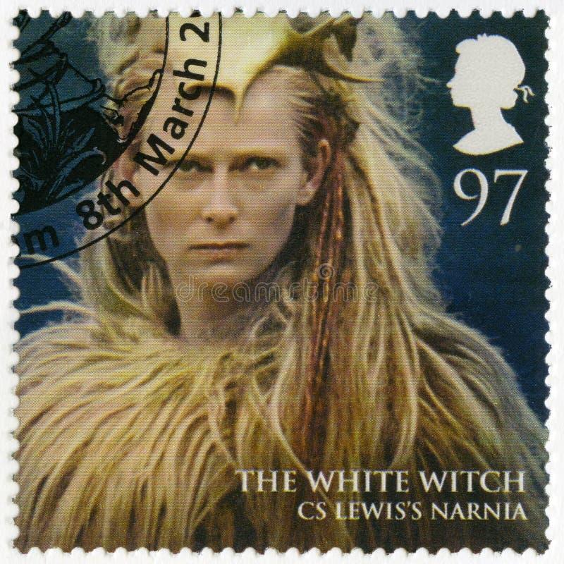 LA GRANDE-BRETAGNE - 2011 : montre le portrait de la sorcière blanche, Narnia, royaumes magiques de série image stock