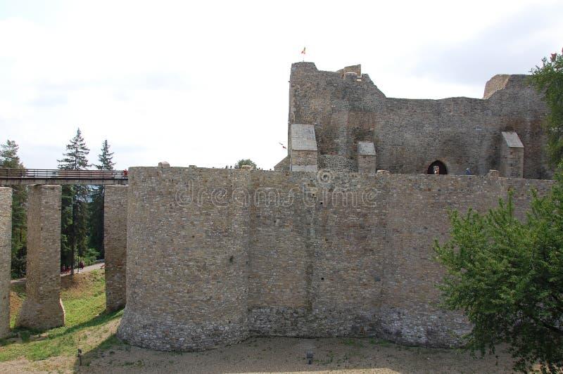 La grande fortezza di vecchia città fotografie stock libere da diritti