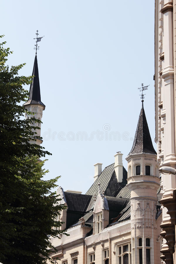 La grande guilde à Riga images stock