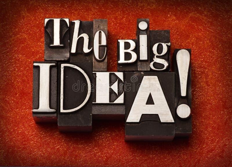 La grande idée ! images libres de droits