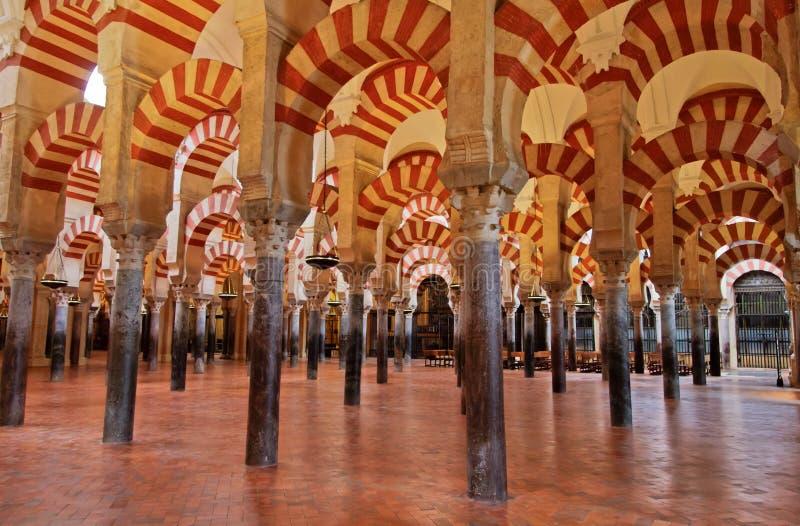 La grande moschea a Cordova, Spagna fotografie stock