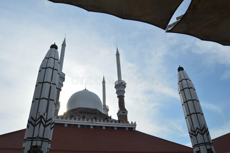 La grande moschea di Java centrale fotografie stock