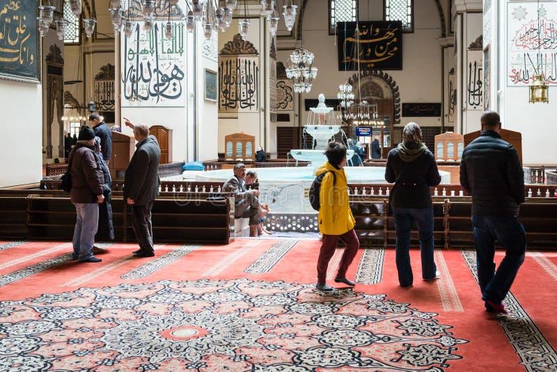 La grande moschea o Ulu Cami di Bursa è una moschea a Bursa, Turchia fotografia stock libera da diritti