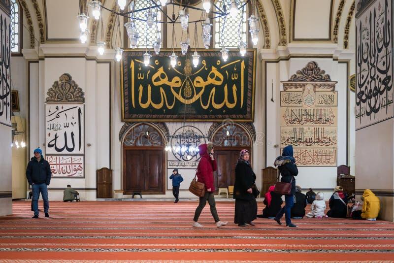 La grande moschea o Ulu Cami di Bursa è una moschea a Bursa, Turchia fotografia stock