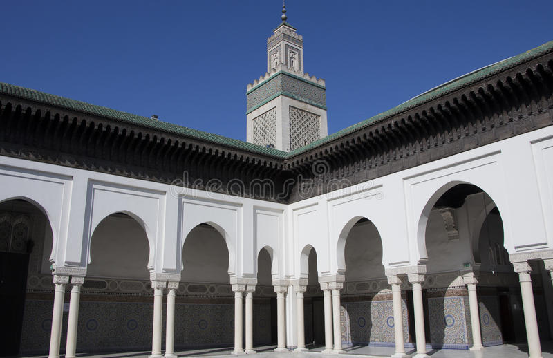 La Grande Mosquée DE Parijs of de Grote Moskee van Parijs royalty-vrije stock foto's