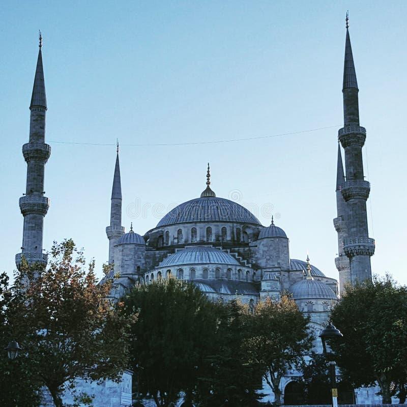 La grande mosquée bleue images libres de droits