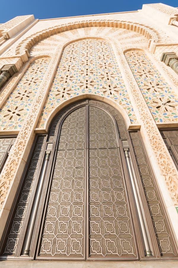 La grande mosquée de Hassan II à Casablanca, Maroc image stock