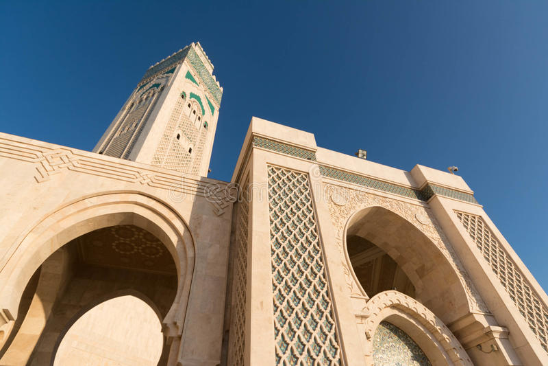 La grande mosquée de Hassan II à Casablanca, Maroc photos stock