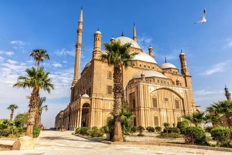 La grande mosquée de la mosquée de Muhammad Ali Pasha ou d'albâtre dans la citadelle du Caire en Egypte image stock