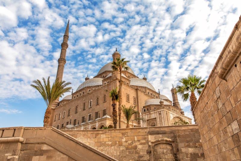 La grande mosquée de Muhammad Ali Pasha, vue du mur de citadelle, le Caire, Egypte images stock