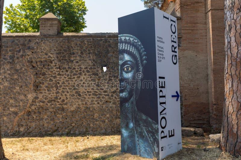 La grande mostra Pompei ei Pompei e i Greci Pompei ei Greci nell'antica città di Pompei, immagine stock libera da diritti