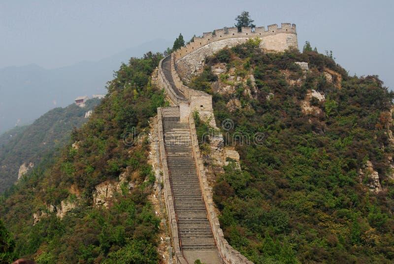 La Grande Muraglia della porcellana fotografie stock