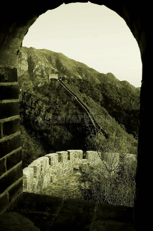 La grande muraglia a Huangyaguan fotografie stock libere da diritti