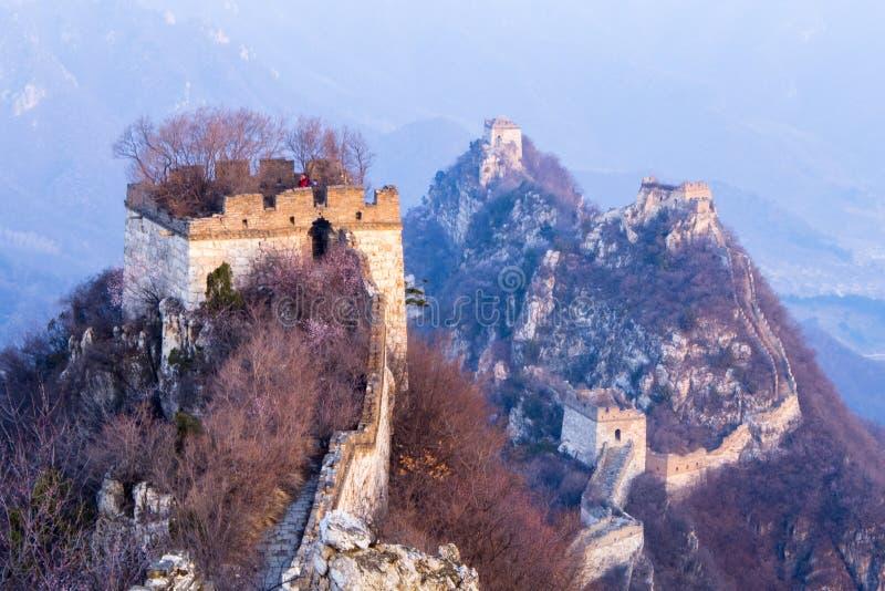 La grande muraglia a Jiankou fotografia stock libera da diritti
