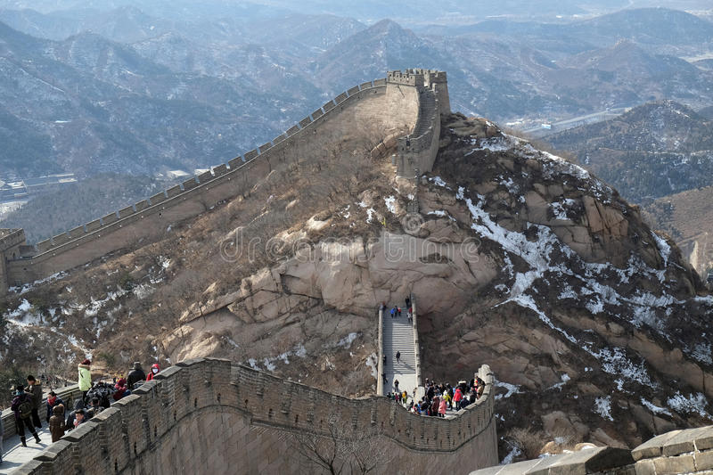La Grande Muraille de la Chine dans Badaling, Chine photo stock