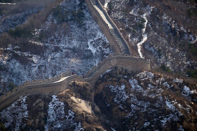 La Grande Muraille de la Chine dans Badaling, Chine photographie stock libre de droits