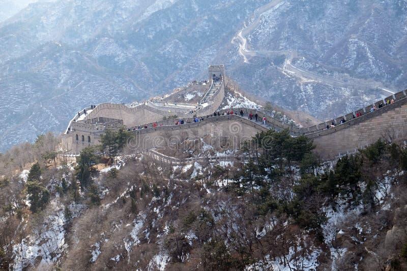 La Grande Muraille de la Chine dans Badaling, Chine image libre de droits