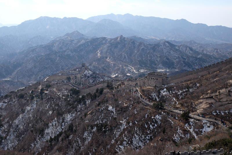 La Grande Muraille de la Chine dans Badaling, Chine photos libres de droits