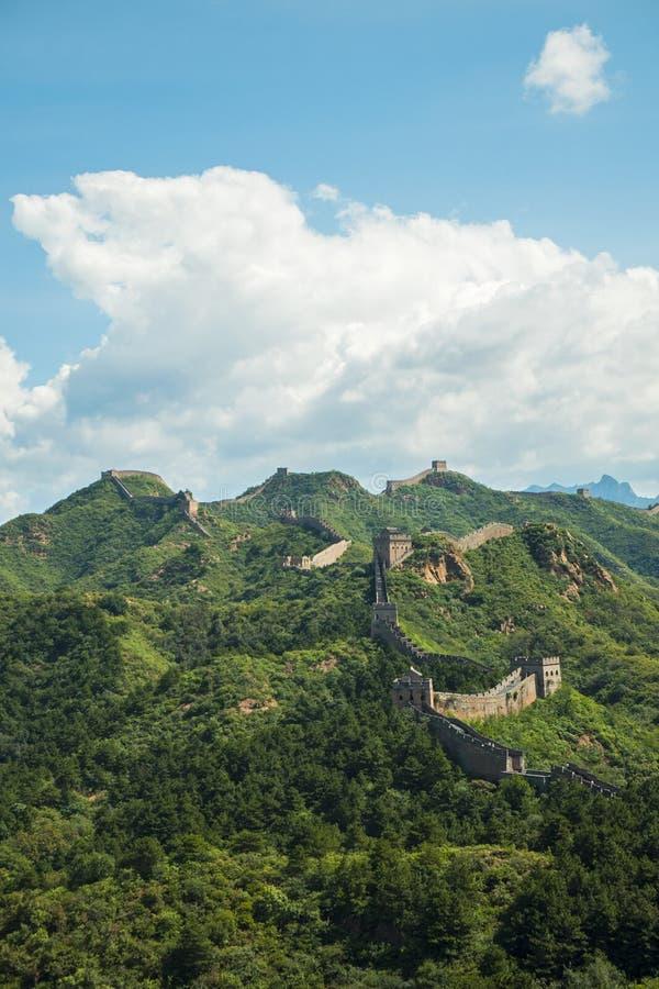 La Grande Muraille de la Chine, histoire asiatique image stock