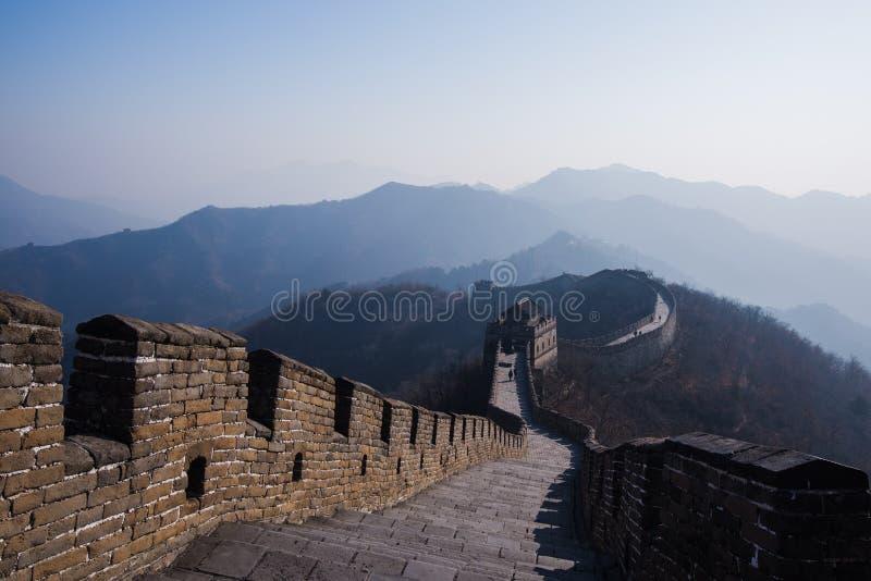 La Grande Muraille de la Chine, section de Mutianyu image stock