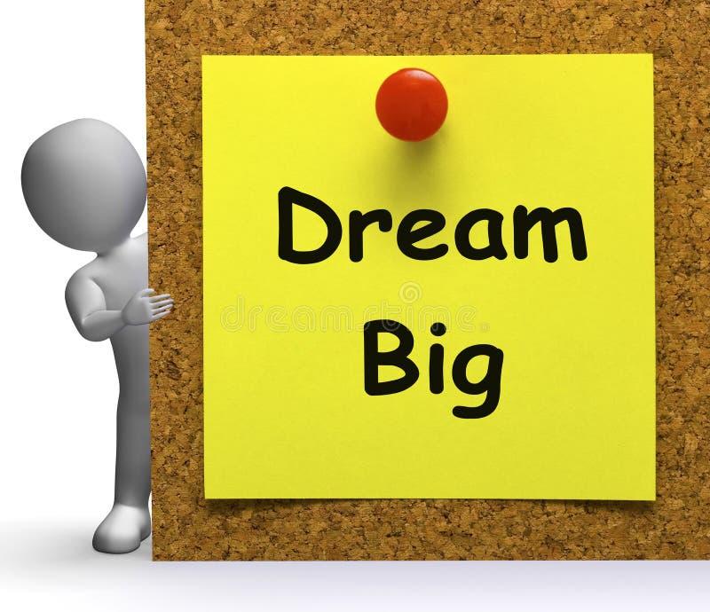 La grande note rêveuse signifie l'espoir d'avenir d'ambition illustration de vecteur